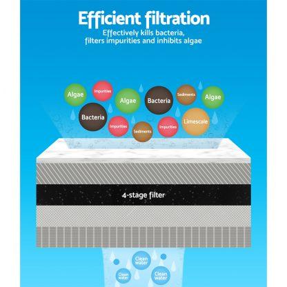 Aquarium External Canister Filter Aqua Fish Tank UV Light with Media Kit 2400L/H