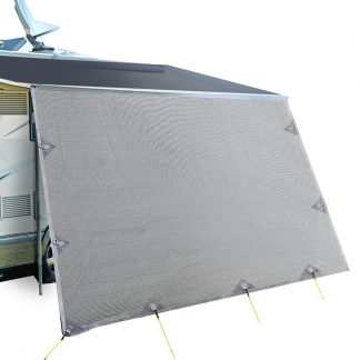 3.7M Caravan Privacy Screens 1.95m Roll Out Awning End Wall Side Sun Shade