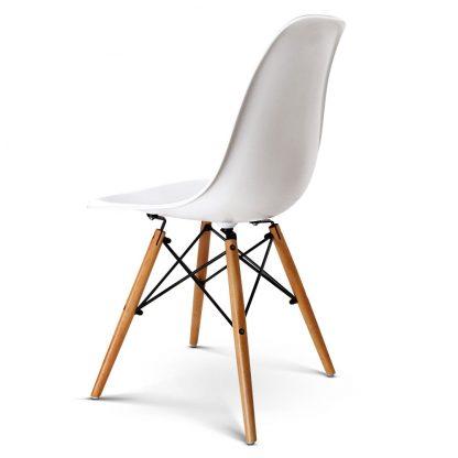 Artiss Set of 4 Retro Beech Wood Dining Chair - White
