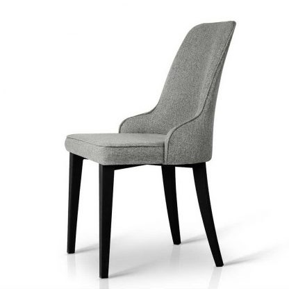Artiss Set of 2 Fabric Dining Chairs - Grey