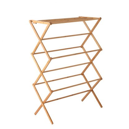 Artiss Bamboo Clothes Dry Rack Folable Towel Hanger Laundry Drying