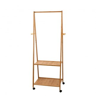 Artiss Bamboo Hanger Stand Wooden Clothes Rack Display Shelf