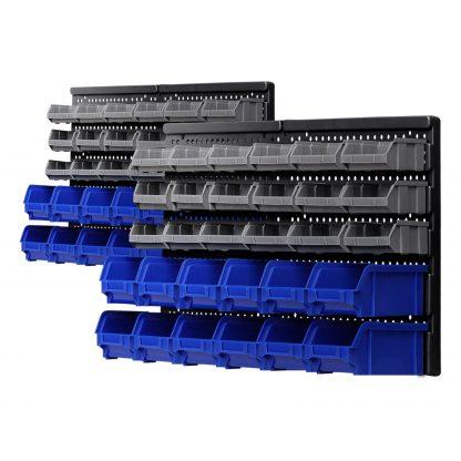 Giantz 60 Bin Wall Mounted Rack Storage Tools Garage Organiser Shed Work Bench