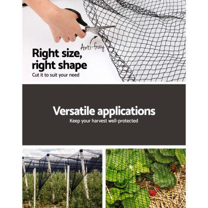 Instahut 10 x 20m Anti Bird Net Netting - Black