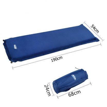 Weisshorn Single Size Self Inflating Matress - Blue