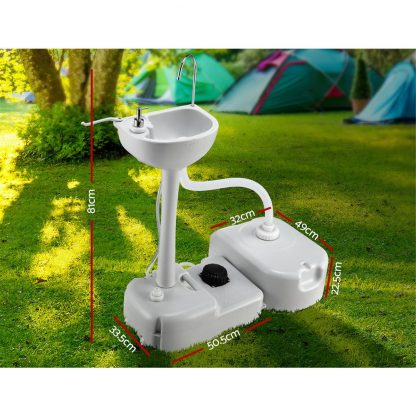 Weisshorn Portable Camping Wash Basin 43L