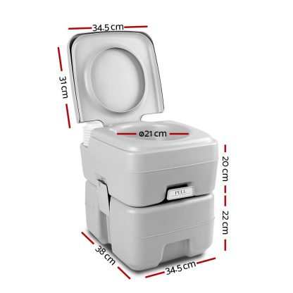 Weisshorn 20L Outdoor Portable Toilet Camping Potty Caravan Travel Boating wtih Carry Bag