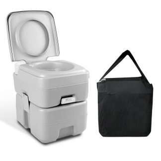 Weisshorn 20L Portable Outdoor Camping Toilet with Carry Bag- Grey