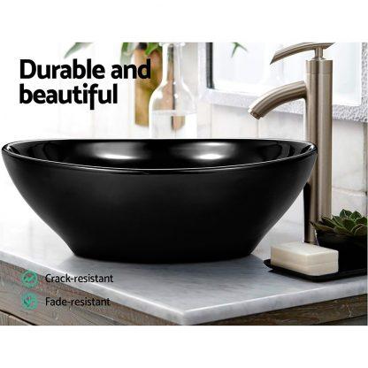 Cefito Ceramic Oval Sink Bowl - Black