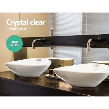 Cefito Ceramic Oval Sink Bowl - White