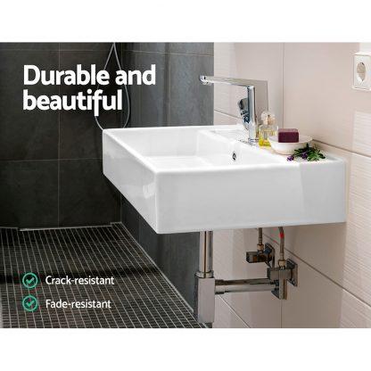 Cefito Ceramic Rectangle Sink Bowl - White
