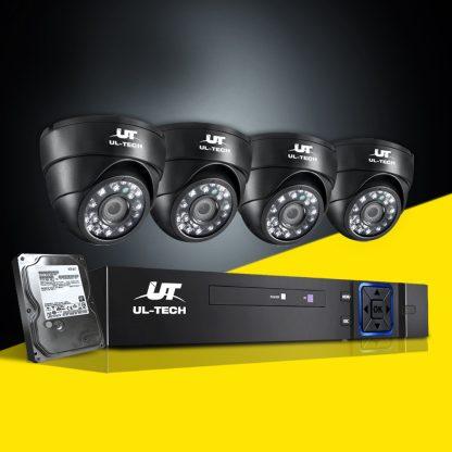 1080P Eight Channel HDMI CCTV Security Camera 1 TB Black