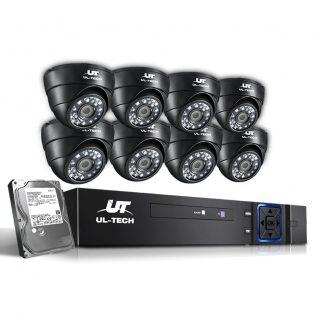 UL-Tech CCTV Security System 2TB 8CH DVR 1080P 8 Camera Sets
