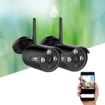 UL-tech Wireless CCTV System 2 Camera Set For DVR Outdoor Long Range 1080P