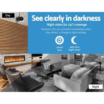 UL-TECH 1080P Wireless IP Camera CCTV Security System Baby Monitor Black