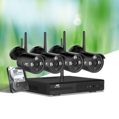 UL-Tech CCTV Wireless Security System 2TB 4CH NVR 1080P 4 Camera Sets