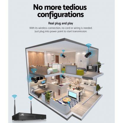 UL-Tech CCTV Wireless Security System 2TB 8CH NVR 1080P 4 Camera Sets