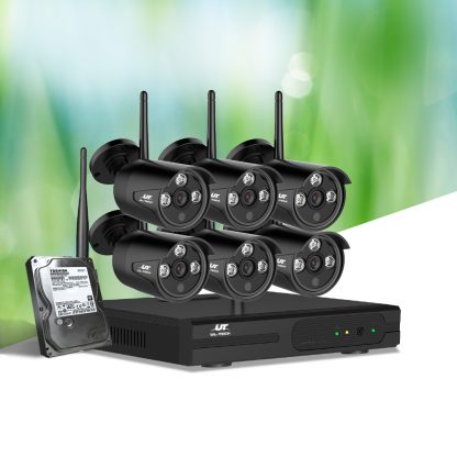 UL-tech CCTV Wireless Security Camera System 8CH Home Outdoor WIFI 6 Bullet Cameras Kit 1TB