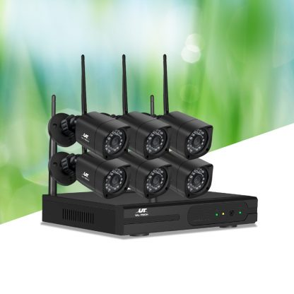 UL-TECH 1080P 8CH NVR Wireless 6 Security Cameras Set