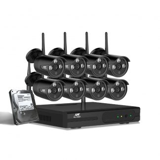 UL-tech CCTV Wireless Security Camera System 8CH Home Outdoor WIFI 8 Bullet Cameras Kit 1TB