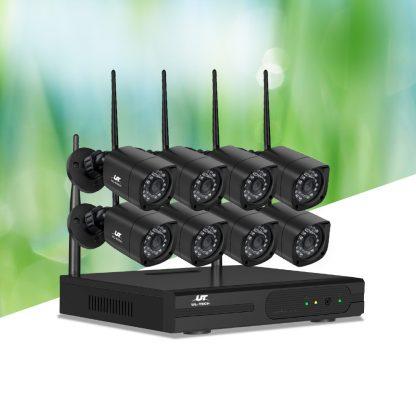 UL-TECH 1080P 8CH NVR Wireless 8 Security Cameras Set