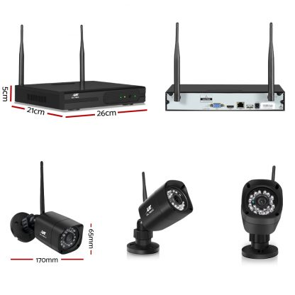 UL-tech CCTV Wireless Security Camera System 8CH Home Outdoor WIFI 8 Square Cameras Kit 1TB