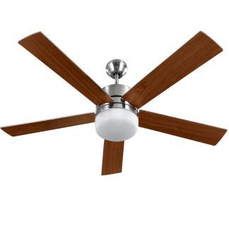 Devanti 52'' Ceiling Fan w/Light Wall Control 2-sided Blades