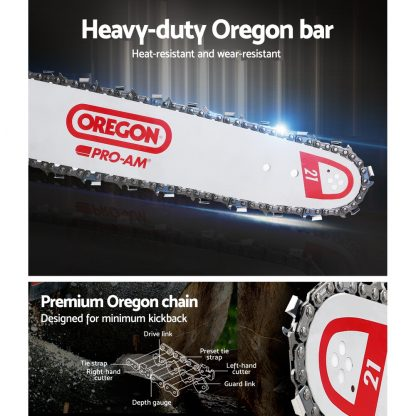 GIANTZ 62cc Commercial Petrol Chainsaw 20 Oregon Bar E-Start Chains Saw Tree