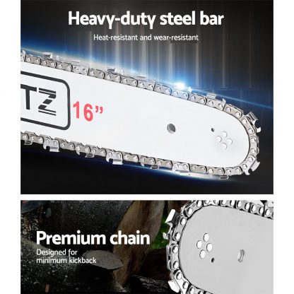 "Giantz 45cc Petrol Commercial Chainsaw 16"" Bar E-Start Pruning Chain Saw"