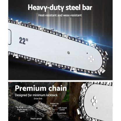 GIANTZ 75CC Petrol Commercial Chainsaw Chain Saw Bar E-Start Pruning