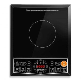 Devanti Portable Single Ceramic Electric Induction Cook Top - Black