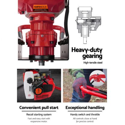 Giantz Post Hole Digger Diggers Petrol Complete 80CC Motor Only Earth Auger
