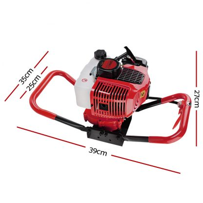 Giantz Post Hole Digger Only 66CC Petrol Motor Drill Borer Fence Auger Bits
