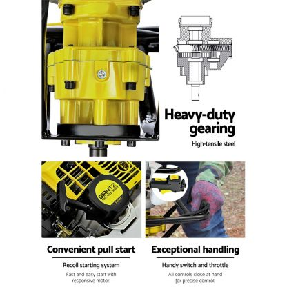 Giantz 92CC Petrol Post Hole Digger Auger Drill Borer Fence Earth Power 200mm
