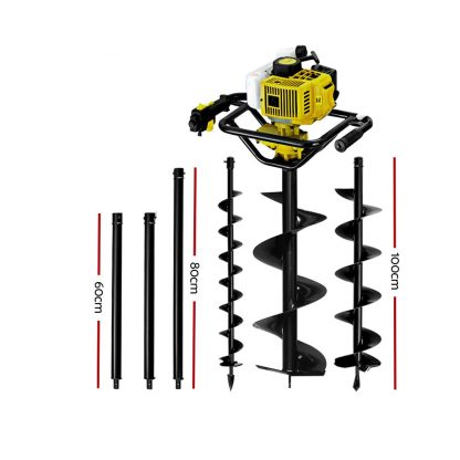 Giantz Post Hole Digger 88CC Petrol Auger Diggers Drill Borer Fence Earth Power
