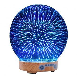 Devanti Aromatherapy Diffuser Aroma Humidifier Ultrasonic 3D Firework Light Oil