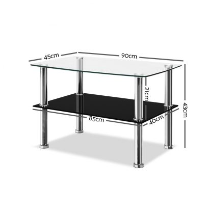 Artiss Dumor Glass Coffee Table