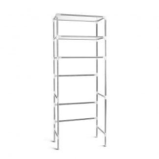 3 Tier Bathroom Storage Rack Over Toilet Steel Towel Racking Shelf Organiser