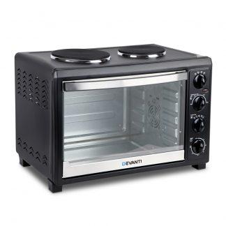 Devanti 45L Convection Oven with Hotplates - Black