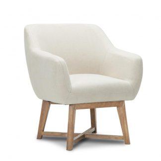 Artiss Fabric Tub Lounge Armchair - Beige
