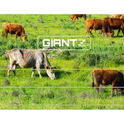 Giantz 2000M Polywire Roll Electric Fence Energiser Stainless Steel Poly Wire