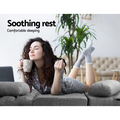 Artiss Lounge Sofa Bed 2-seater Floor Folding Fabric Grey