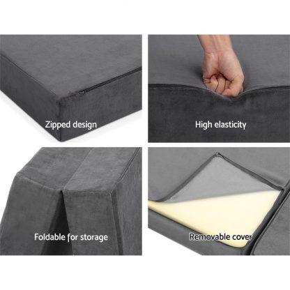 Giselle Bedding Folding Foam Portable Mattress Grey