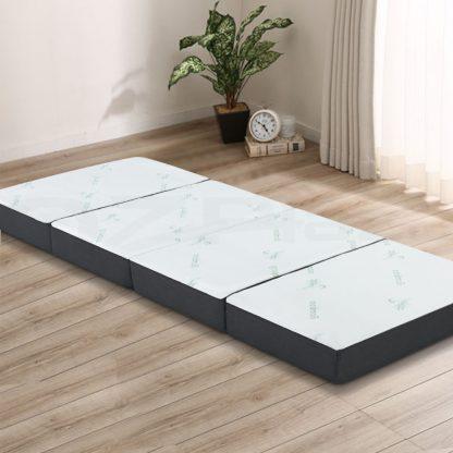 Giselle Bedding Portable Mattress Folding Foldable Foam Floor Bed Tri Fold 180cm