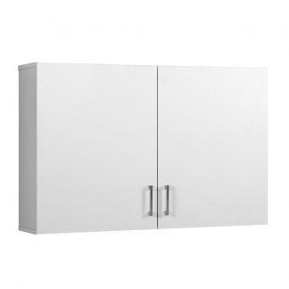 Cefito Wall Cabinet Storage Bathroom Kitchen Bedroom Cupboard Organiser White