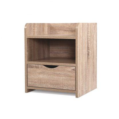 Artiss Bedside Tables Storage Drawer Side Table Bedroom Furniture Nightstand Shelf Unit Oak