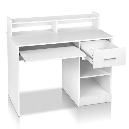 Artiss Office Computer Desk with Storage - White