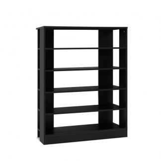 Artiss Shoe Cabinet Shoes Organiser Storage Rack 30 Pairs Black Shelf Wooden