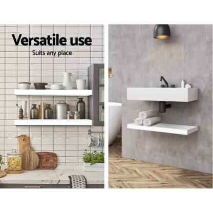 Artiss Display Shelf Floating Wall Shelf Bookshelf Mount Storage DIY 60cm White