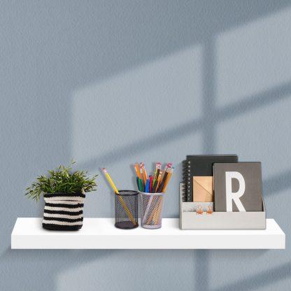 Artiss Wall Shelf Floating Bookshelf Set DIY Storage Display Rack 80cm White